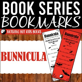 Book Series Bookmarks   Bunnicula