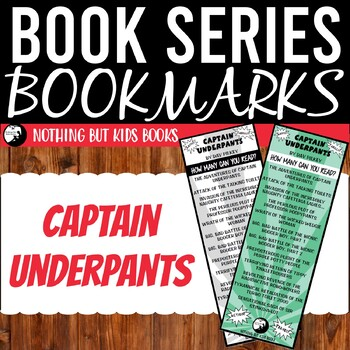 Book Series Bookmarks | Captain Underpants