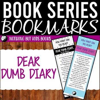 Book Series Bookmarks | Dear Dumb Diary