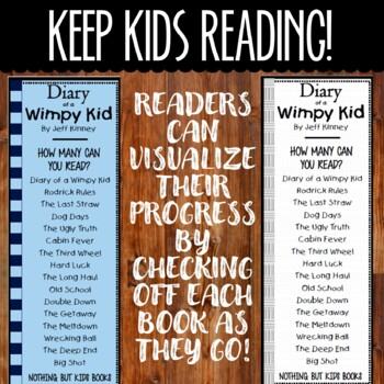 Book Series Bookmarks   Diary of a Wimpy Kid