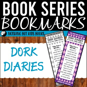 Book Series Bookmarks | Dork Diaries