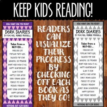 Book Series Bookmarks | Dork Diaries