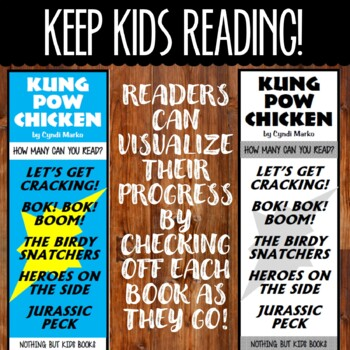Book Series Bookmarks | Kung Pow Chicken