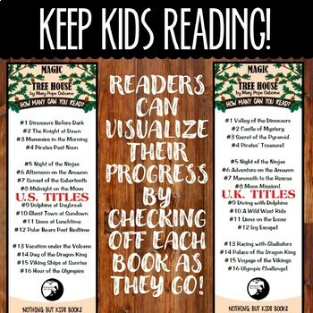 Book Series Bookmarks | Magic Tree House