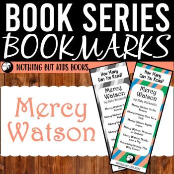 Book Series Bookmarks | Mercy Watson