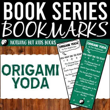 Book Series Bookmarks | Origami Yoda