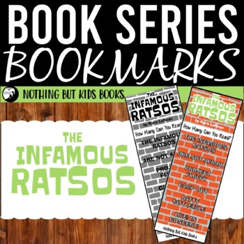 Book Series Bookmarks   The Infamous Ratsos