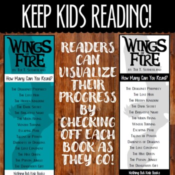 Book Series Bookmarks | Wings of Fire