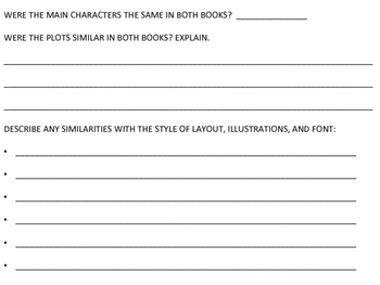 Book Series Comparisons