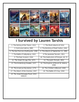 Book Series List Signs