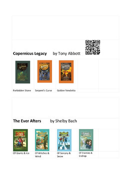 Book Series (MS & HS) Visual Aids - Which One Now with QR Codes?