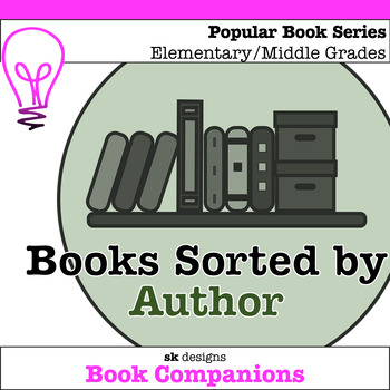 Book Series Sorted by Author