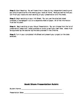 Book Share - A Yearlong book report project!