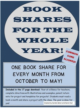 Book Shares for the Whole Year! One Project a Month for October through May!