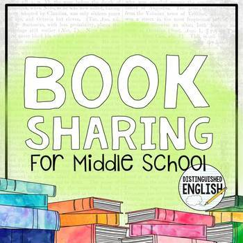 Book Sharing Menu for Middle School Independent Reading