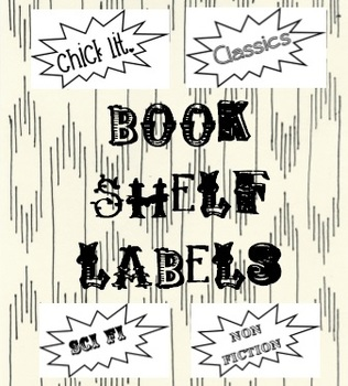 Book Shelf Labels / Class Library Labels