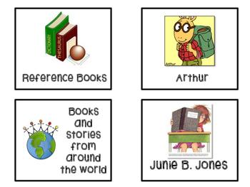 Book Shelf Labels Freebie