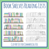 Book Shelves / Reading Lists / Book Spines Templates Clip