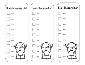 Shopping For Books EDITABLE Bookmarks