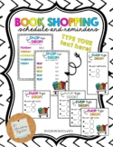 Book Shopping: Cards, Schedule, and Bookmarks *EDITABLE