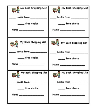 Book Shopping List for Students