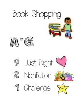 Book Shopping Menu