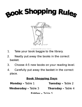 Book Shopping Rules