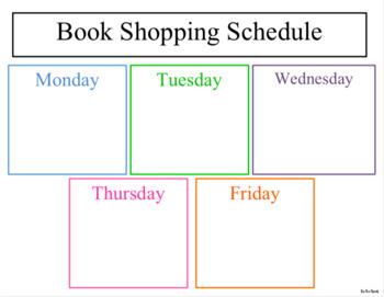 Book Shopping Schedule