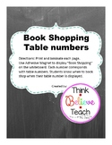 Book Shopping Table Numbers