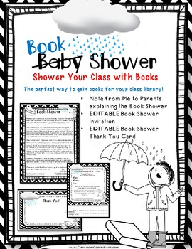 Classroom Library Book Shower