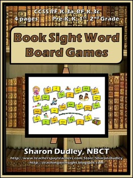 Book Sight Word Board Games