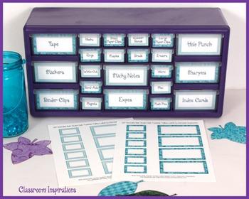 Book Smart Owls Classroom Theme Teacher Toolbox Labels - FREEBIE