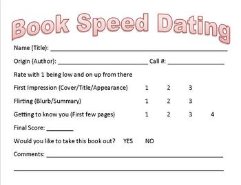 Speed dating form