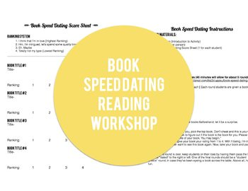 Book Speed Dating -Reading Workshop ELA Middle School Activity using Prezi