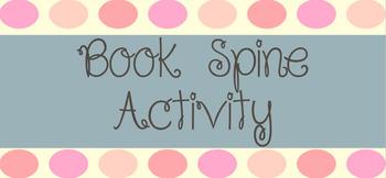 Book Spine Activity Sheet - Editable