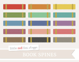 Book Spine Clipart; Textbook, Library