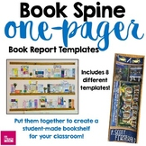 One-Pager Templates that Look Like a Book Spine -Reading L