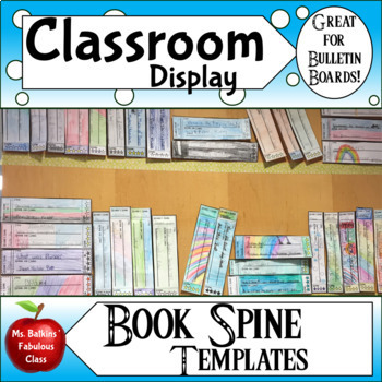 image result for book spine template printable bulletin boards