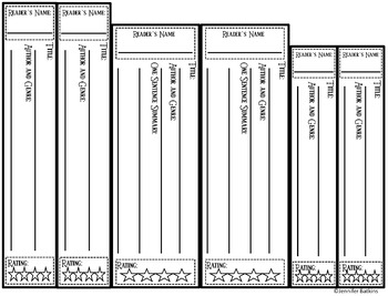 Book Spine Template