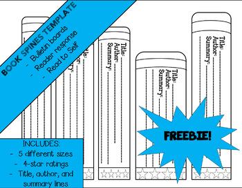 Editable Book Spine Templates (SB6235) - SparkleBox