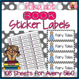 Book Sticker Labels for Classroom Library Books - Polka Dot