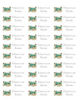 Book Stickers by Genre