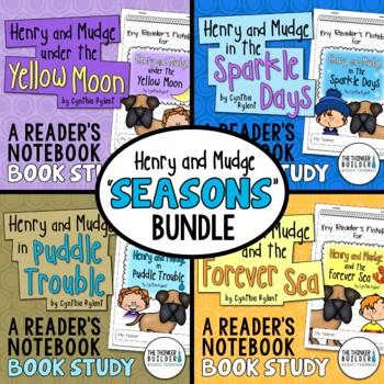 """Henry and Mudge """"SEASONS"""" Bundle {4 Book Studies}"""