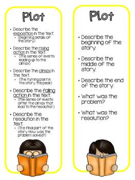Book Talk Reading Comprehension Bookmarks