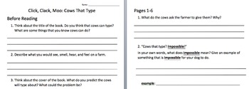 Book Study - Click, Clack, Moo: Cows That Type