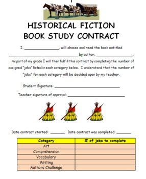 Book Study Contracts (Historical Fiction)