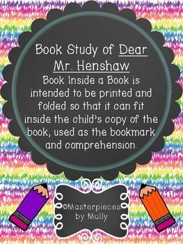 Book Study Dear Mr. Henshaw