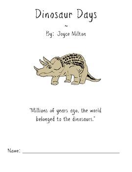Book Study : Dinosaur Days