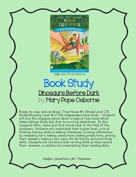 Book Study - Dinosaurs Before Dark by Mary Pope Osborne