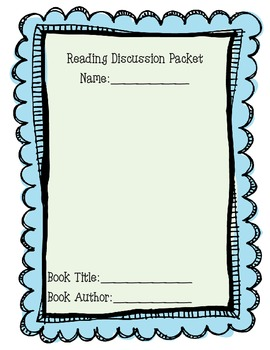 Book Study Discussion Packet